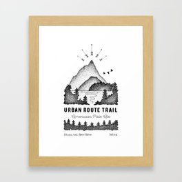 Urban Route Framed Art Print