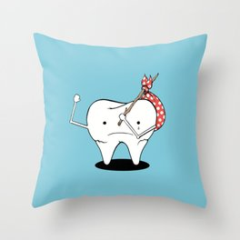 Its Tooth Soon To Say Goodbye Throw Pillow