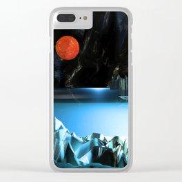 3d Art Digital Art Cave Lake Clear iPhone Case