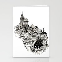 madrid Stationery Cards featuring Madrid by Justine Lecouffe