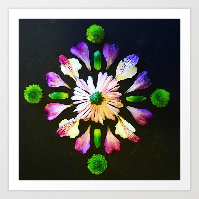 Diamond mandala Art Print
