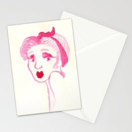 Rockabilly Pink Stationery Cards