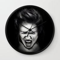cracked Wall Clocks featuring Cracked by Shannon Toohey