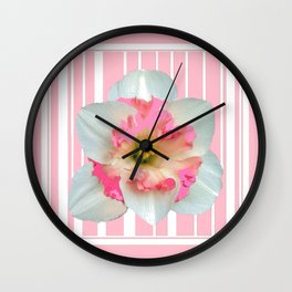 PINK ECTACY FLORAL PATTERNS Wall Clock