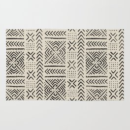 Line Mud Cloth // Bone Rug