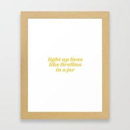 light up lives Framed Art Print