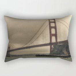 Foggy Bridge Rectangular Pillow