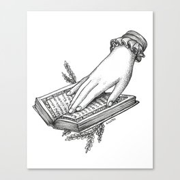 Reading Outside Canvas Print