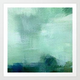 Blues Abstract Landscape Artwork Art Print