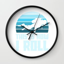 Diving - This is how I roll Wall Clock
