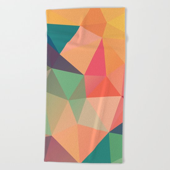 Geometric XV Beach Towel