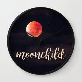 Moonchild Night Sky Painting Wall Clock