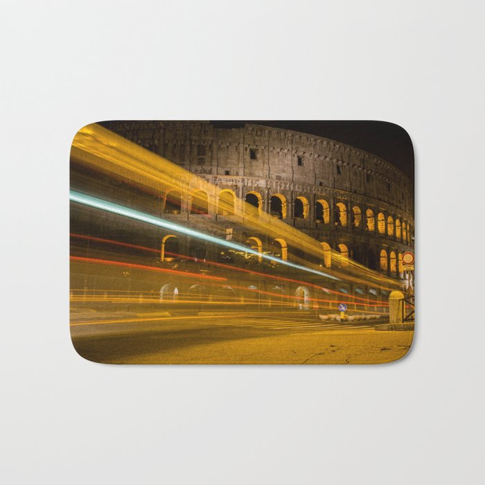 Zooming past the Colosseum Bath Mat