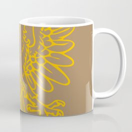 yellow double-headed eagle on brown background Coffee Mug