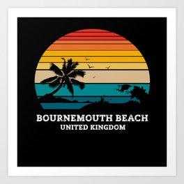 BOURNEMOUTH BEACH UNITED KINGDOM Art Print