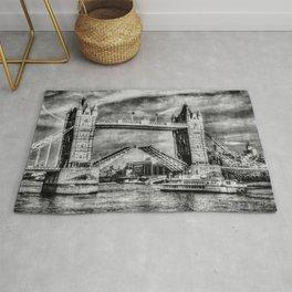 Tower Bridge Vintage Art Rug