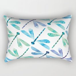 Damselfly Formation Rectangular Pillow