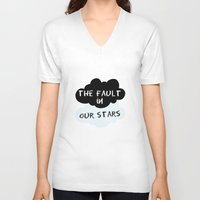 fault in our stars V-neck T-shirts featuring The Fault In Our Stars by swiftstore