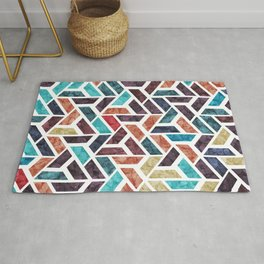 Seamless Colorful Geometric Pattern XVI Rug