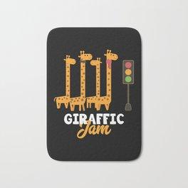 Giraffe Cartoon Funny Animals Gift Bath Mat