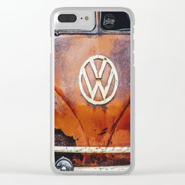 Rusty Red Clear iPhone Case