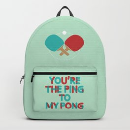 Love is like ping pong Backpack