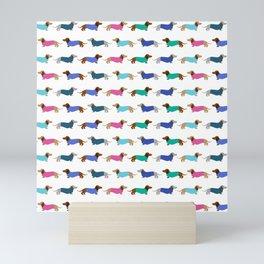 Sweater Dachshund Pattern Mini Art Print