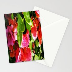 Vibrant pink and red flowers Stationery Cards