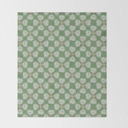 Hot Mess Gilligan on Green Throw Blanket
