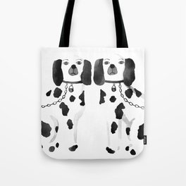 Staffordshire Dogs (Black) Tote Bag