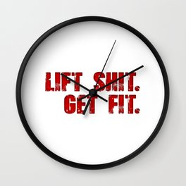 Lift Shit. Wall Clock