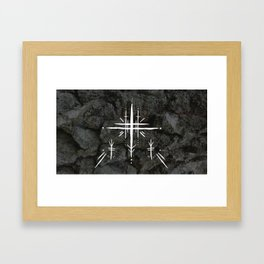 Rune Cross Framed Art Print