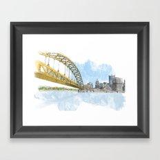 Fort Pitt Bridge Framed Art Print