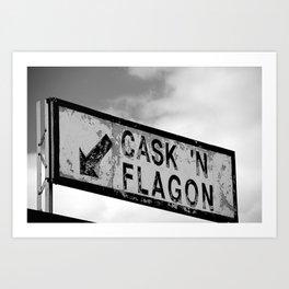 Cask 'n Flagon Art Print
