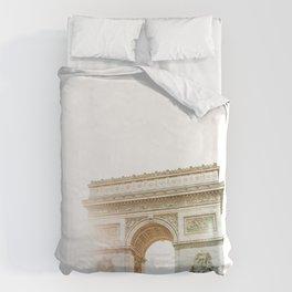 arc de triomphe in paris Duvet Cover