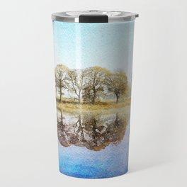 Esthwaite Morning Reflections, Lake District, Cumbria, England. Watercolor Painting. Travel Mug