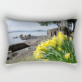 DAFFODILS OF SPRING IN THE SAN JUAN ISLANDS Rectangular Pillow
