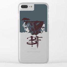 Buffy & Faith Clear iPhone Case