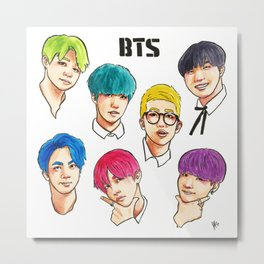 BTS Colorful Metal Print