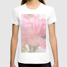Gentleness - Soft Pink Rose #1 #decor #art #society6 Womens Fitted Tee White X-LARGE