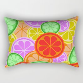 Citrus Explosion - A Pattern of Many Fruits from the Citrus Family Rectangular Pillow