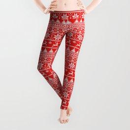 Fair Isle Christmas Leggings