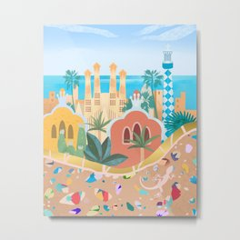 Barcelona, Spain Metal Print