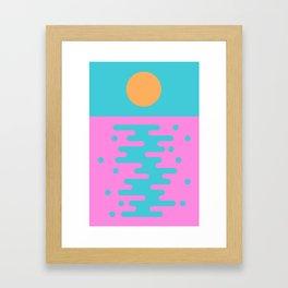 Paradise Sunset II Framed Art Print