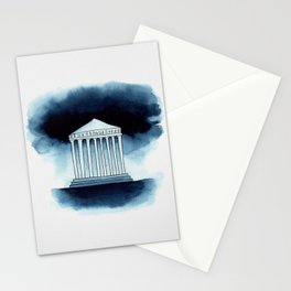 Parthenon in watercolor Stationery Cards