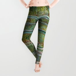 "Claude Monet ""Bridge over a Pond of Water Lilies"" Leggings"