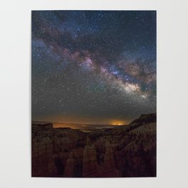 Fairyland Canyon Starry Night Photography Poster
