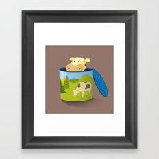 The moo box Framed Art Print