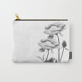 black and white peonies Carry-All Pouch