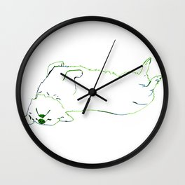 Simplistic Corgi Wall Clock